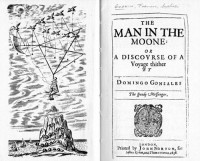 """""""The Man in the Moone 1638"""" Francis Godwin、Wikipediaより"""