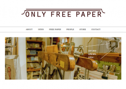 「ONLY FREE PAPER」HP